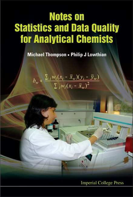 Notes on Statistics and Data Quality for Analytical Chemists