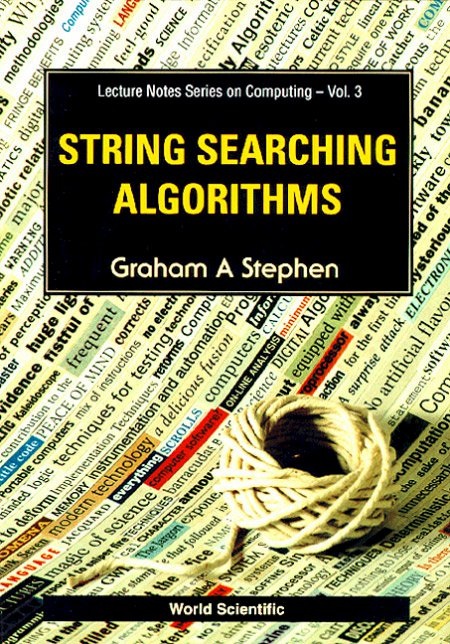 String searching algorithms lecture notes series on computing lecture notes series on computing volume 3 string searching algorithms fandeluxe Choice Image
